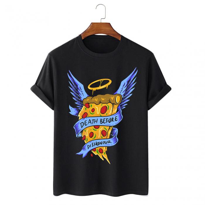 Tricou Negru Angel Pizza [0]