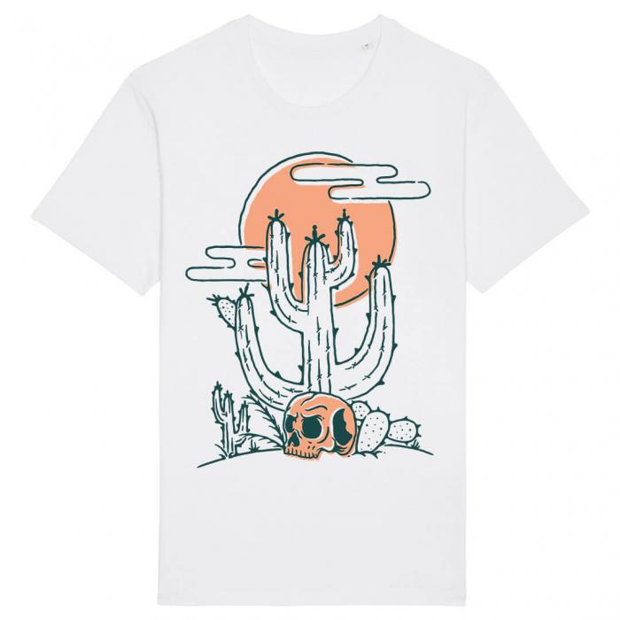 Tricou Alb Cactus Skull [0]
