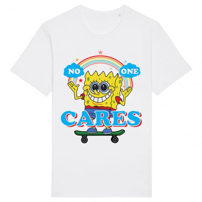 Tricou Alb No One Cares [0]