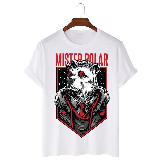 Tricou Alb Mister Polar [0]