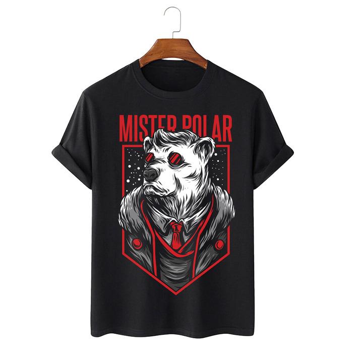 Tricou Negru Mister Polar [0]