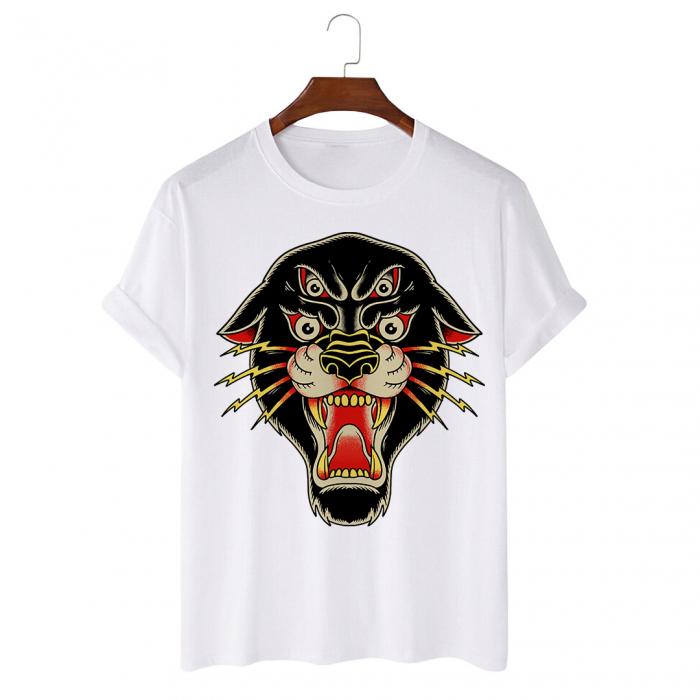 Tricou Alb Daemon Panther [0]