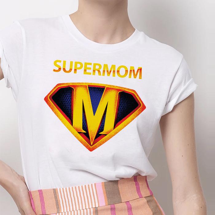 Tricou Dama Alb SuperMom [0]