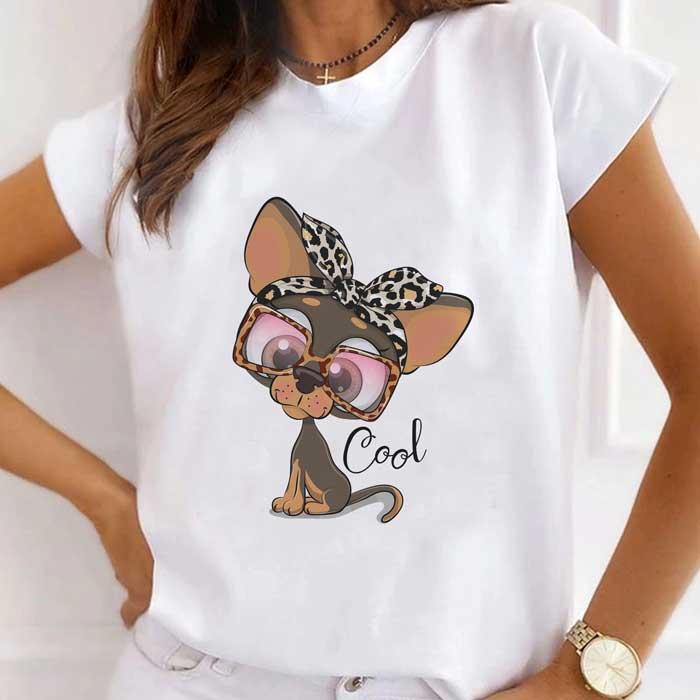 Tricou Dama Alb Cool Dog [0]