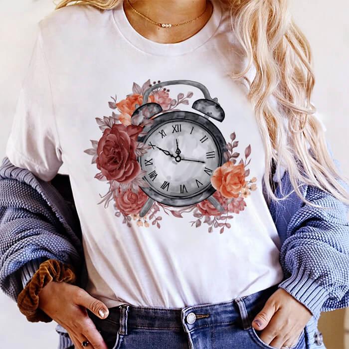 Tricou Dama Alb Autumn Time [0]