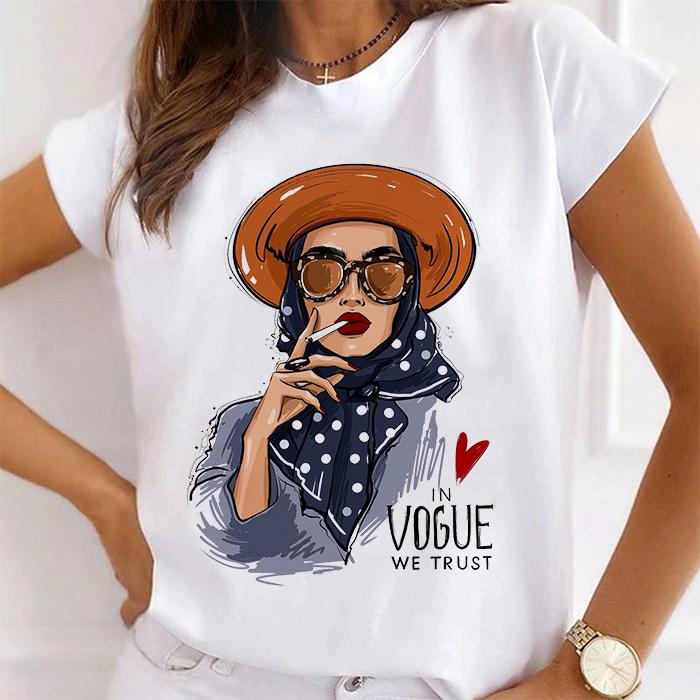 Tricou Dama Alb In Vogue We Trust [0]
