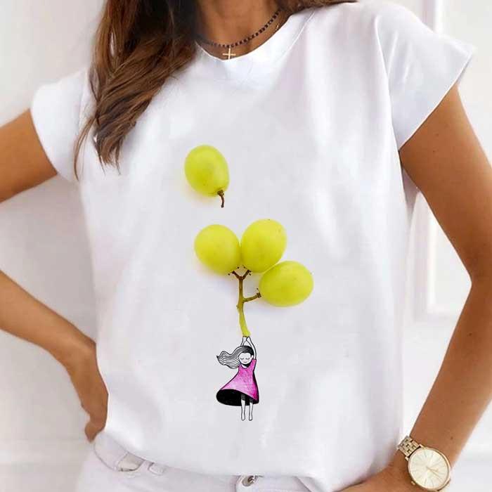Tricou Dama Alb Grape Girl [0]