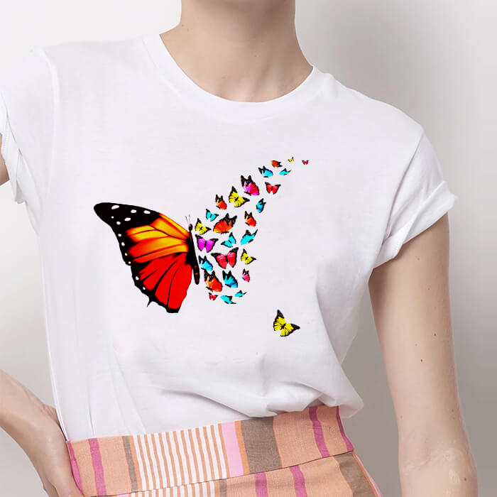 Tricou Dama Alb Beautiful Butterfly [0]