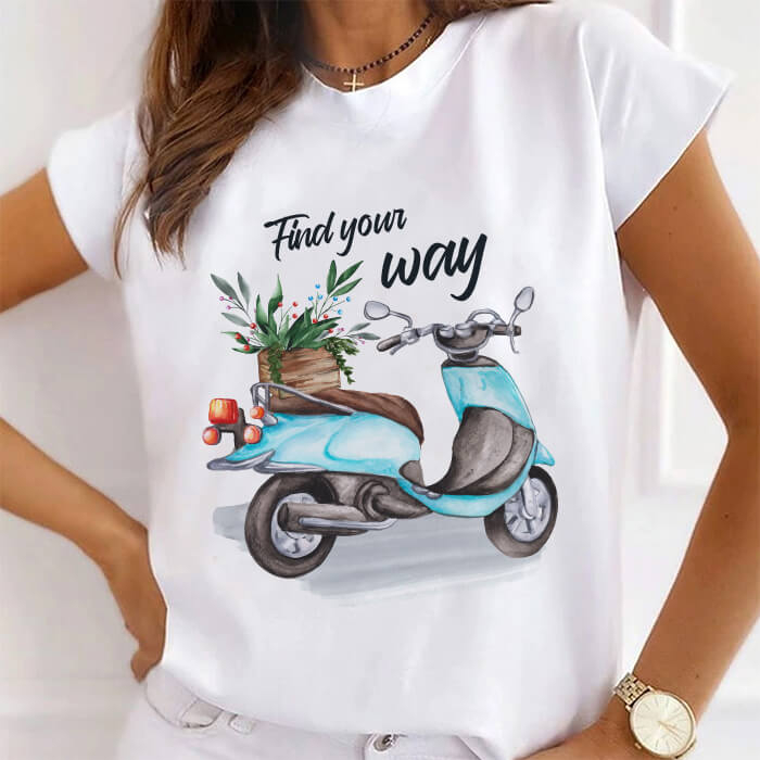 Tricou Dama Alb Find Your Way [0]