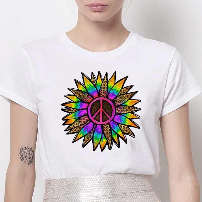 Tricou Dama Alb Rainbow Flower [0]