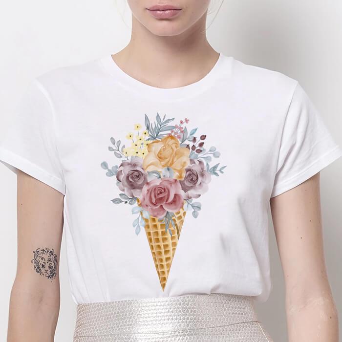 Tricou Dama Alb Rose Cream [0]