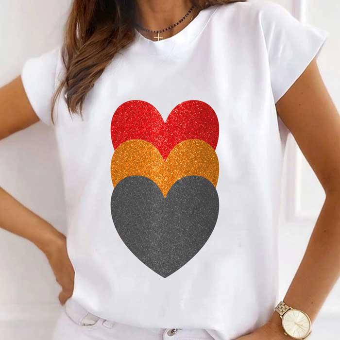 Tricou Dama Alb 3 Hearts [0]