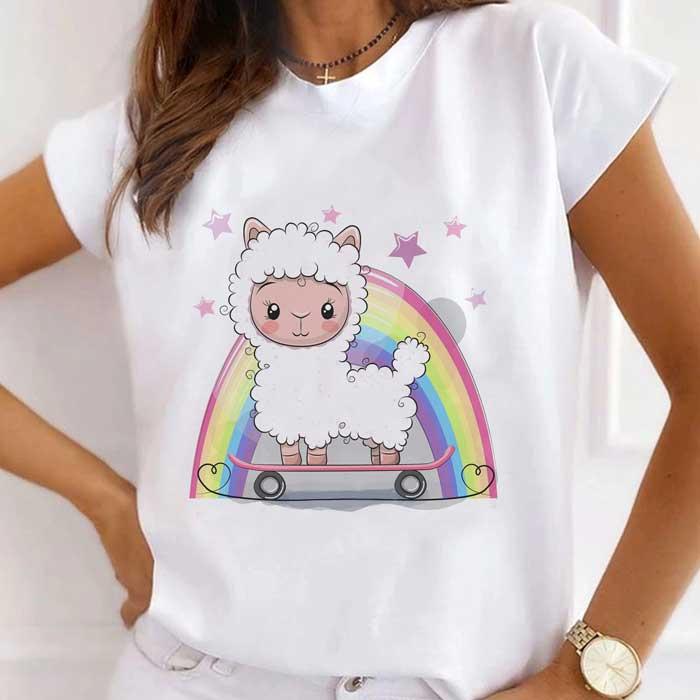 Tricou Dama Alb Rainbow Sheep [0]