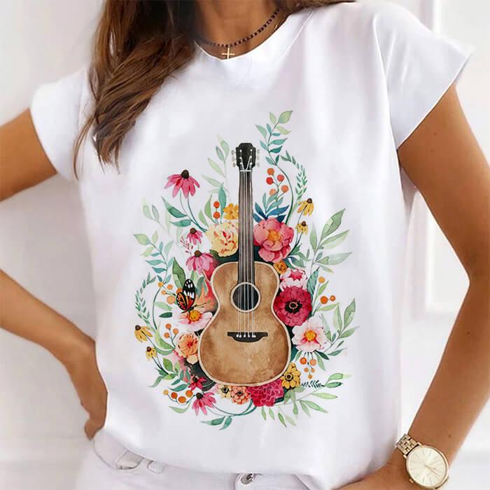 Tricou Dama Alb Sound of Flowers [0]