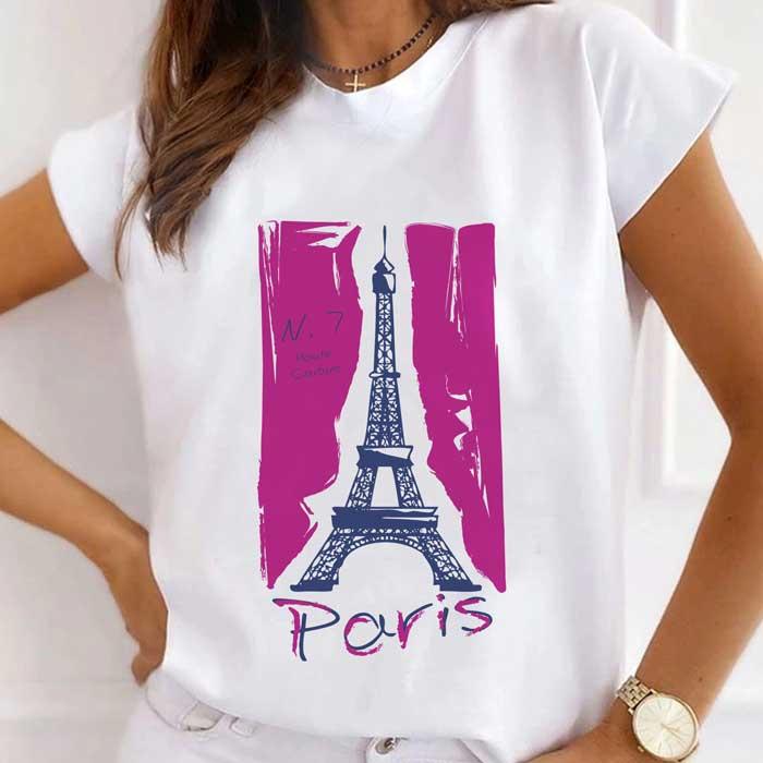 Tricou Dama Alb Haute Couture Paris [0]
