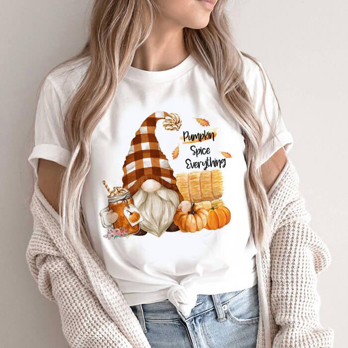 Tricou Dama Alb Pumpkin Spice Everything [0]