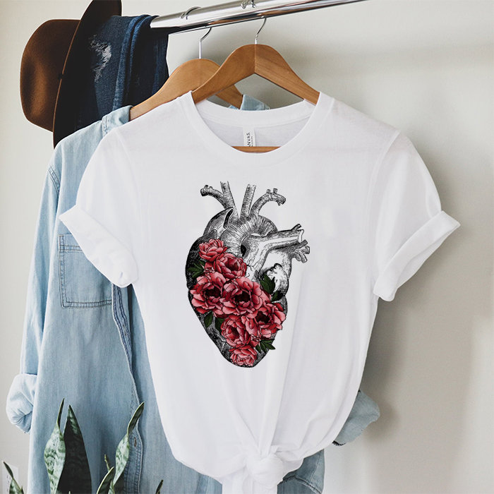 Tricou Dama Alb Natural Heart [0]