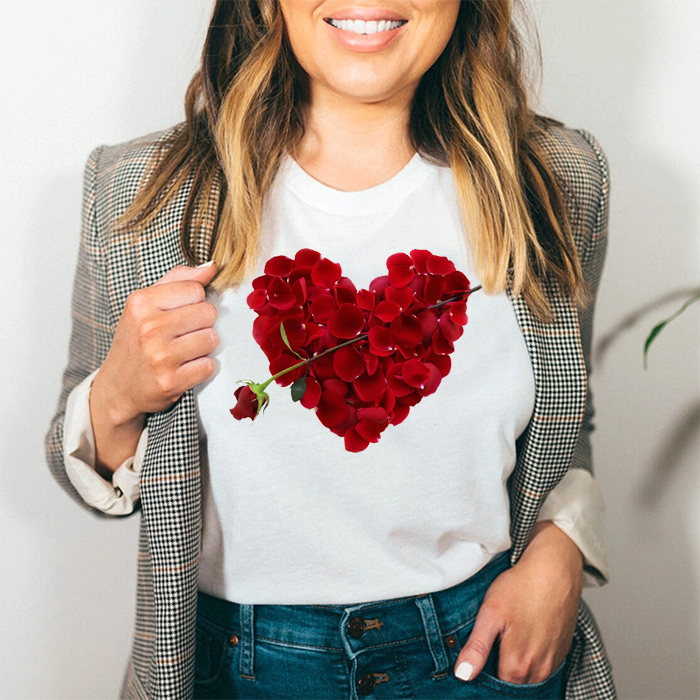 Tricou Dama Alb Love Roses [0]