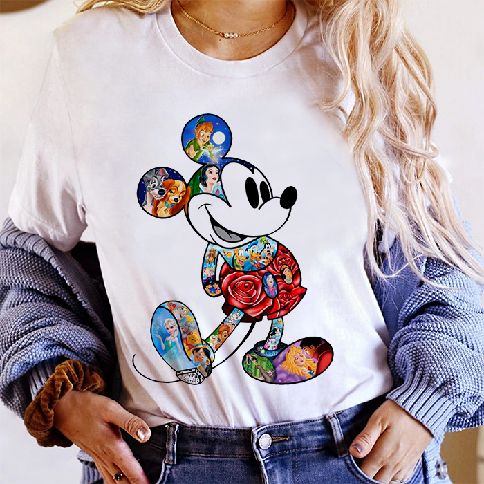 Tricou Dama Alb Magic Mickey [0]