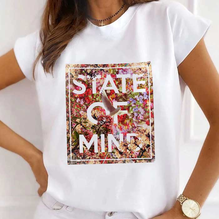 Tricou Dama Alb State Of Mind [0]