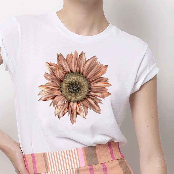 Tricou Dama Alb Sunflower [0]
