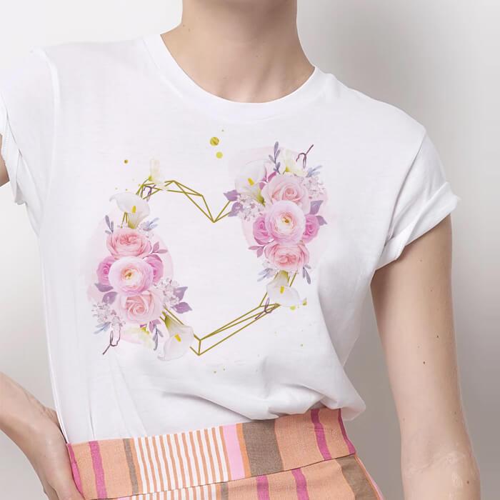 Tricou Dama Alb I Love Flowers [0]