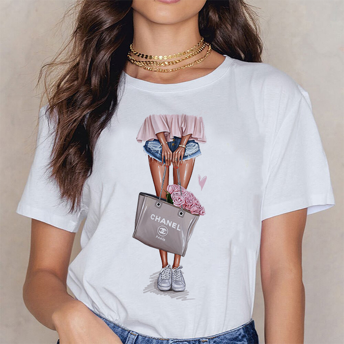 Tricou Dama Alb Bag Of Roses [0]