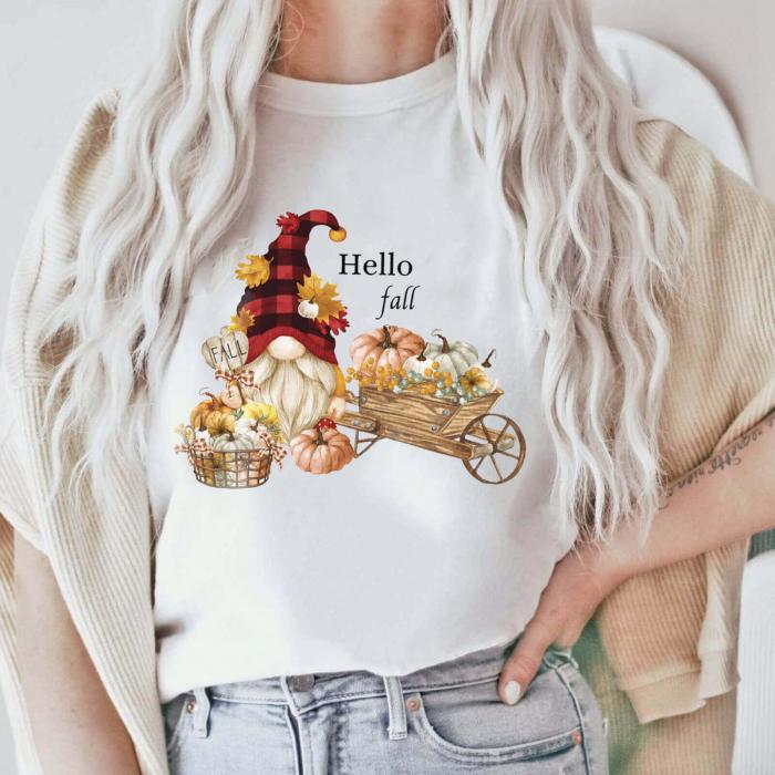 Tricou Dama Alb Hello Fall [0]