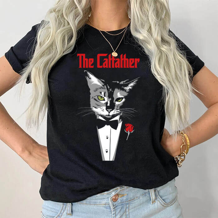 Tricou Dama Negru The Catfather [0]