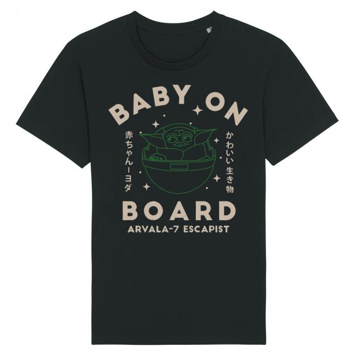 Tricou Negru Baby On Board [0]