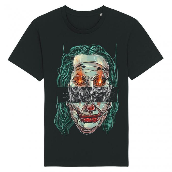 Tricou Negru Joker Fire Skull [0]