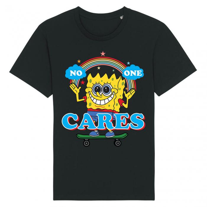 Tricou Negru No One Cares [0]