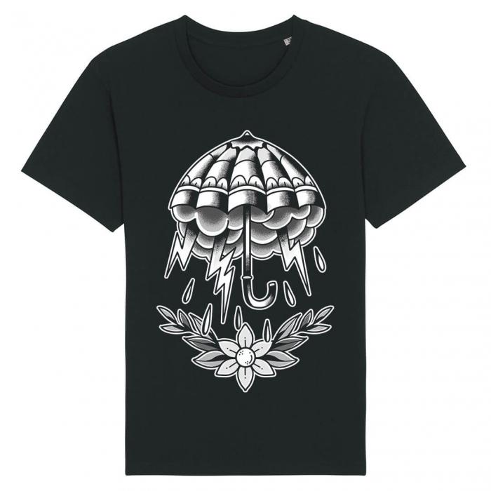 Tricou Negru Umbrella Tattoo [0]