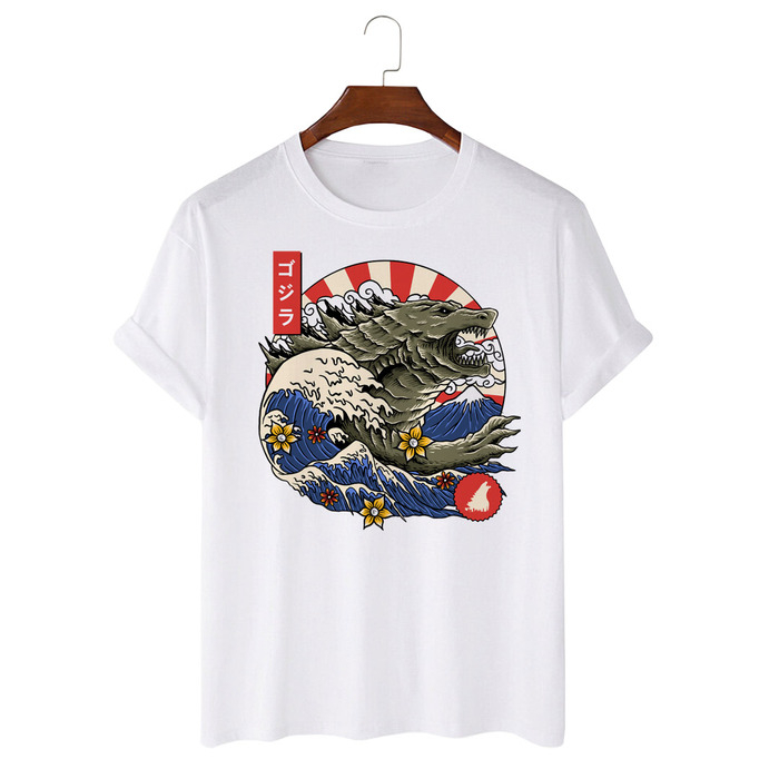 Tricou Alb Great Wave Monster [0]