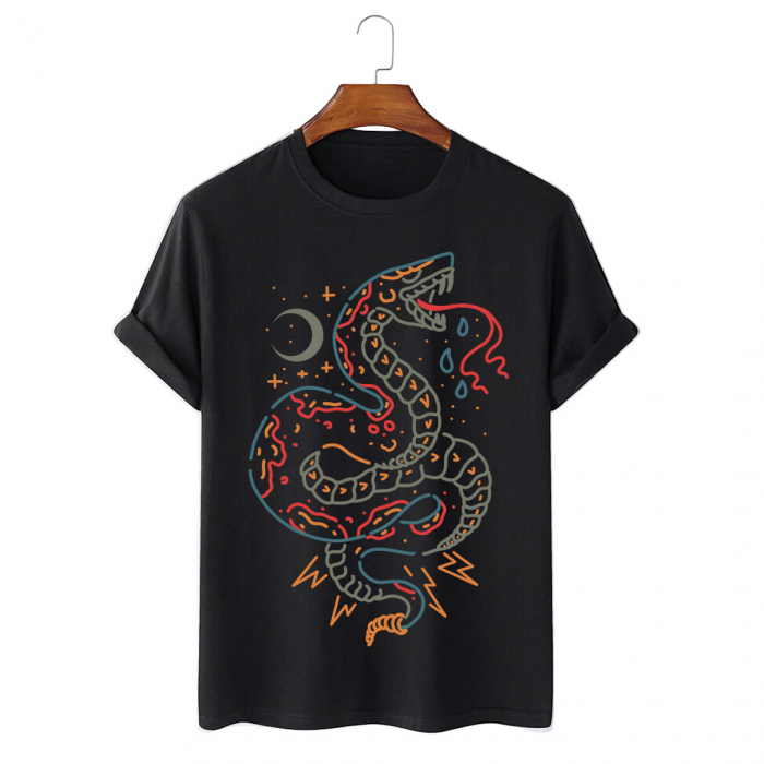 Tricou Negru Snake [0]
