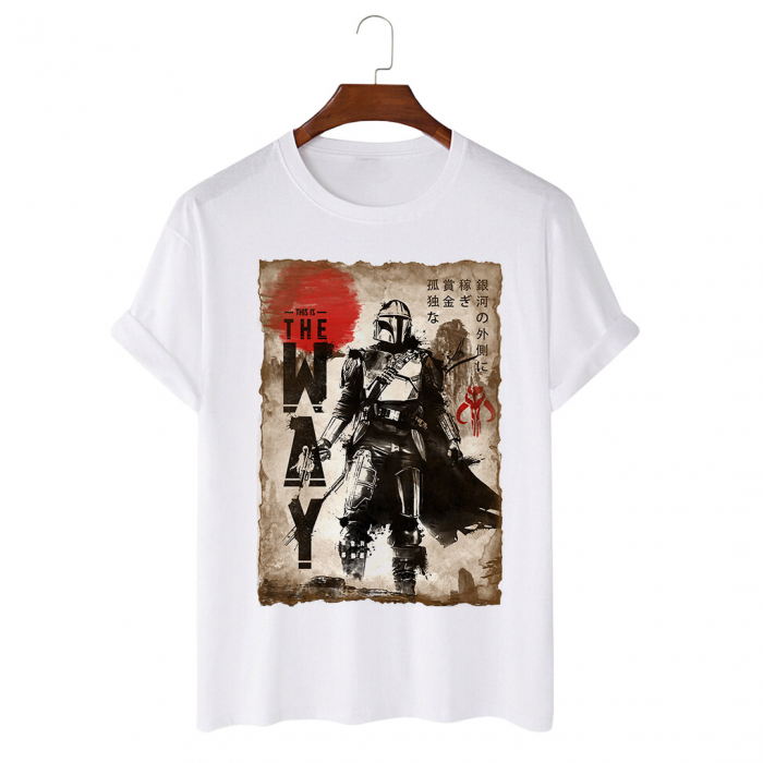 Tricou Alb The Way Painting [0]