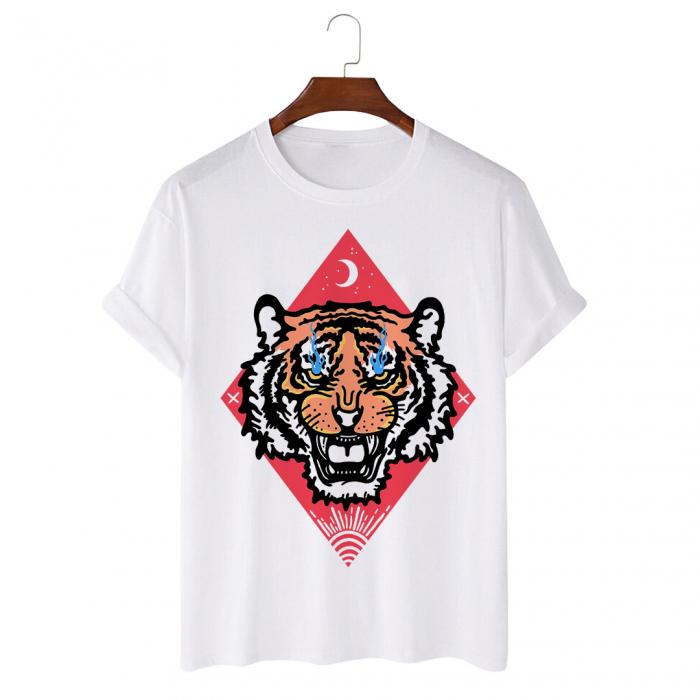 Tricou Alb Tiger Eyes [0]