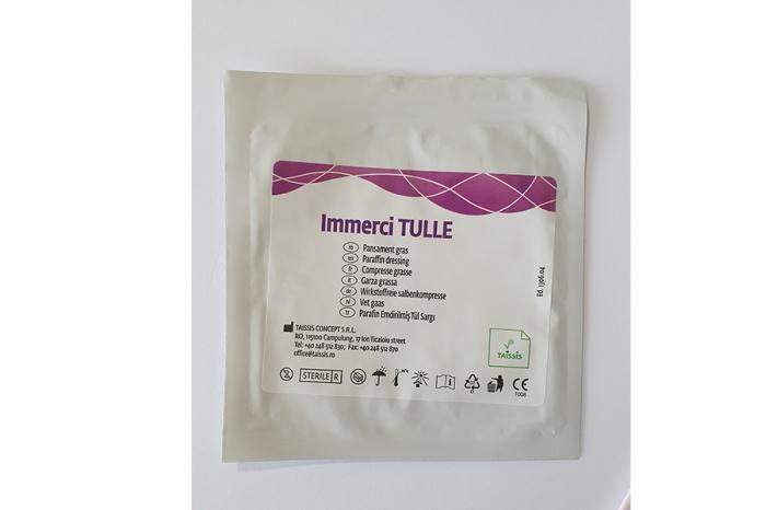 Indicații:  Immerci TULLE + Pansamentul hidrocoloid este indicat în tratamentul local al plăgilor acute moderat exudative (arsuri, escoriaţii dermice, plăgi traumatice) şi cronice (ulcere, escare), în [1]