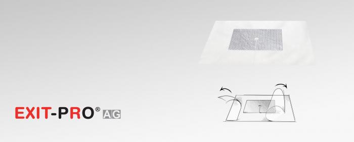 Pansament cu argint şi membrană adezivă din poliuretan impermeabil ( cu fixare adezivă) [0]