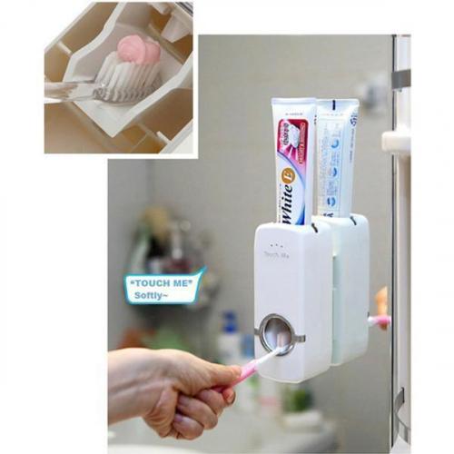 Oferta 1+1 Gratis! Dozator pasta de dinti cu suport pentru 5 periute [2]
