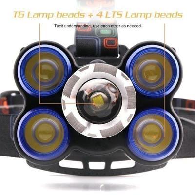 Lanterna frontala de cap 5 LED reglabila cu acumulator [1]
