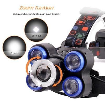 Lanterna frontala de cap 5 LED reglabila cu acumulator [2]