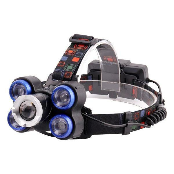 Lanterna frontala de cap 5 LED reglabila cu acumulator [0]