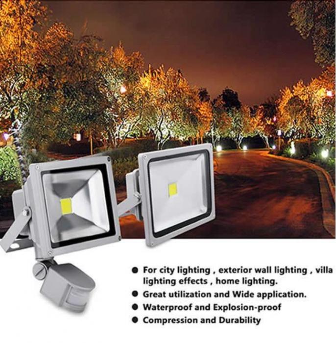 Proiector LED metalic cu senzor de miscare 20 W [1]