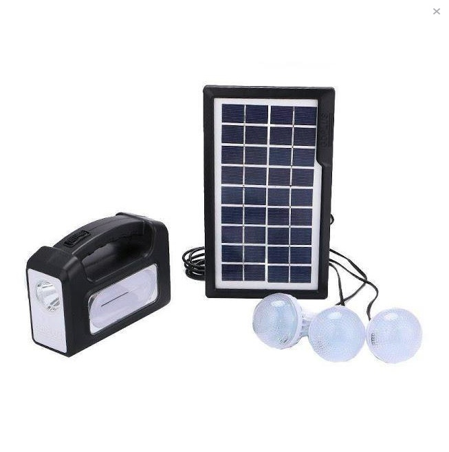 Kit panou solar GDPLUS-GD7 cu 3 becuri si lanterna inclusa [0]