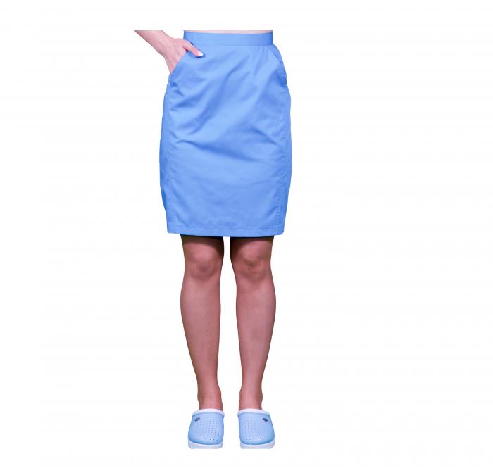 Fusta albastra cu buzunar [0]