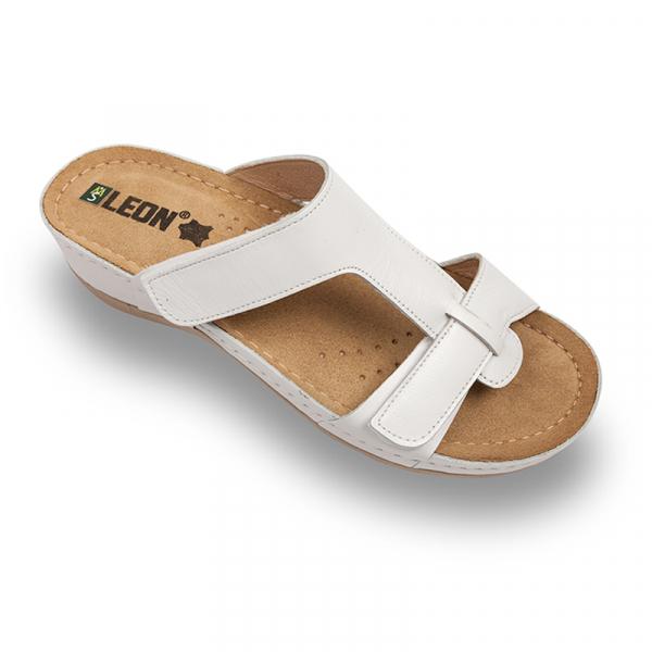 Papuci Leon 914 alb - dama [0]