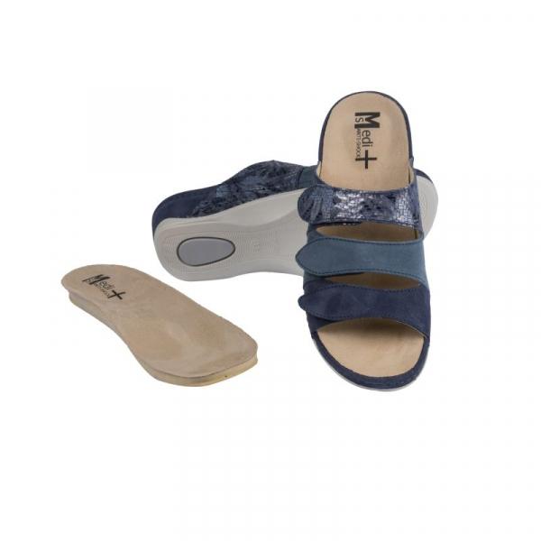 Papuci Medi+ 701-18-5 albastru - dama - cu taloneta detasabila [0]