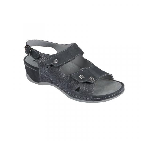 Sandale Medi+ 766 gri - dama - cu taloneta detasabila [1]