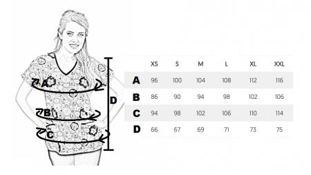 Bluza medicala fistic cu dintisori [1]